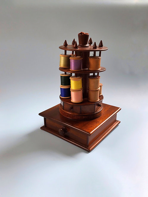 Antique Sewing Reel Stand