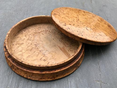 Antique Karelian Birch Snuff Box
