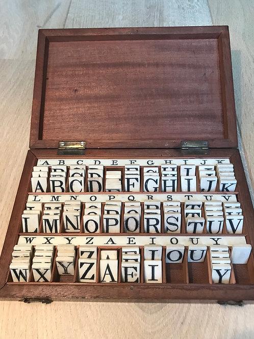 Antique Alphabet/Spelling Box