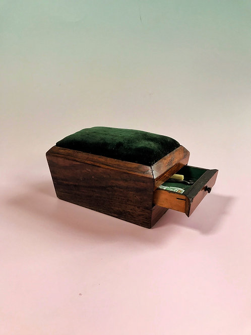 Antique Pin Cushion Box - still retaining the lead weight