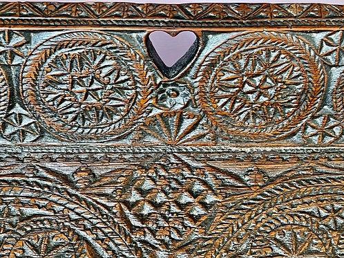 A Mid 1700s Oak Layette Tray