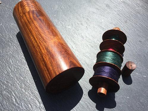 Antique Cotton Bobbin & Needle Case