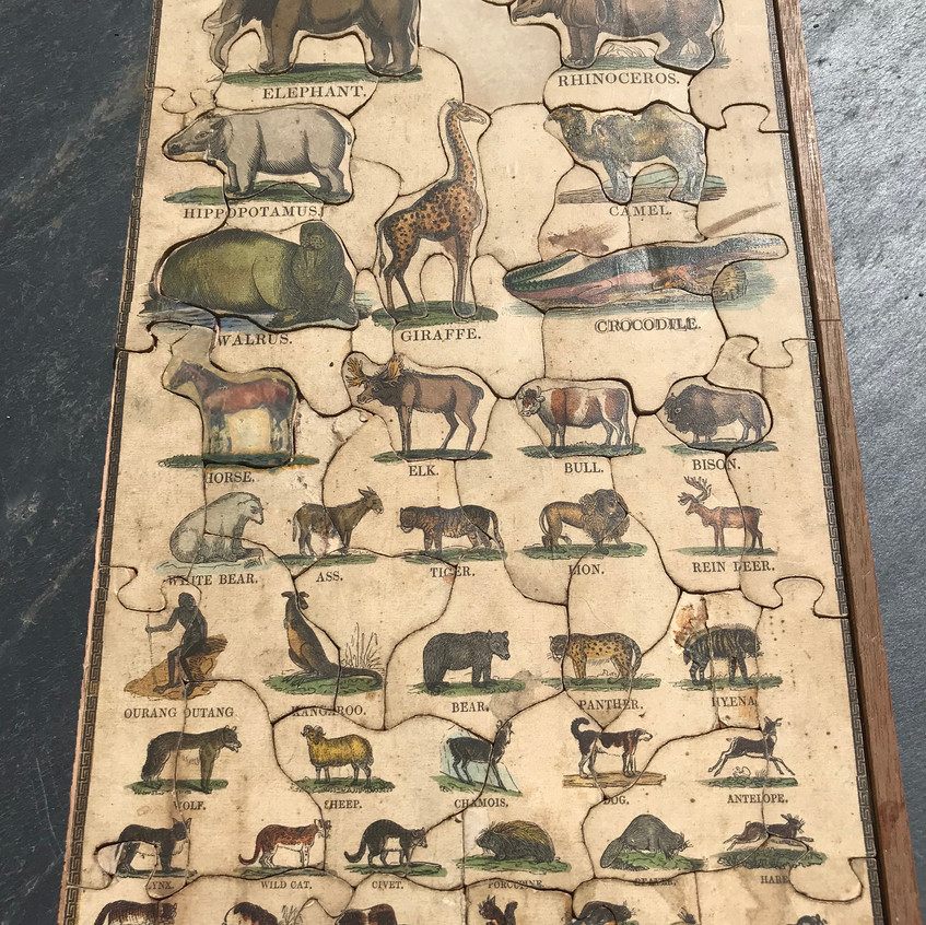 Antique treen jigsaw puzzle for sale opus antiques uk2