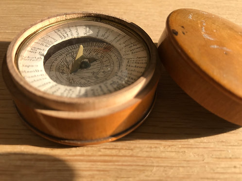 Antique Treen Sun Dial