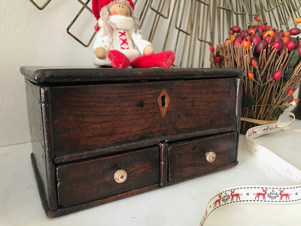 antique Welsh oak box with provenance & secret drawer for sale Opus Antiques UK