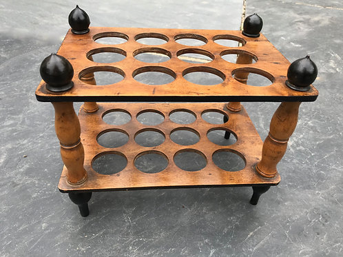 Antique treen egg rack