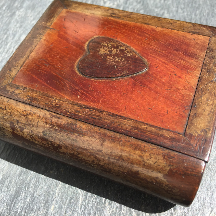 Yew wood snuff book box