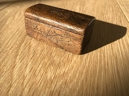 Antique Snuff Box - School Trunk
