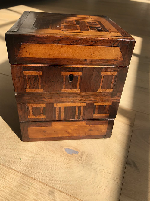 An Unusual Georgian Box - inlaid house