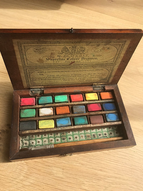 A Small Antique Artist Box