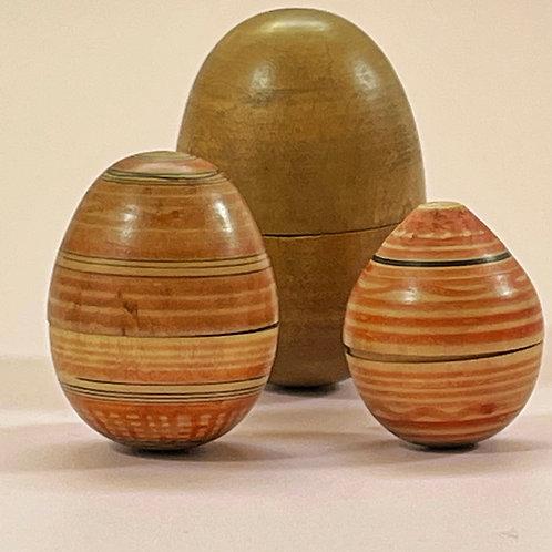 Antique Treen Nest of Eggs
