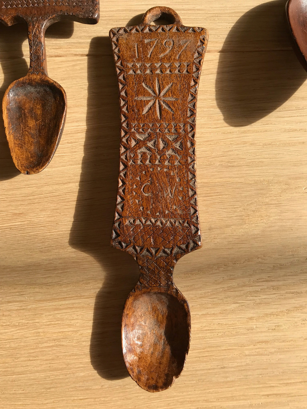 Antique Welsh Lovespoon -  antique treen for sale Opus antiques uk