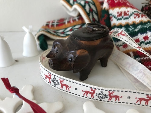 Antique Snuff Box - Pig