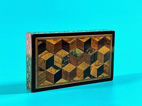 An Antique Tunbridge Ware Desk Paperweight