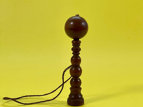 Antique Fruitwood Bilboquet or Ball and Cup Game