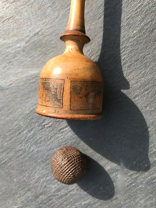 Antique Treen Ball and Cup Game