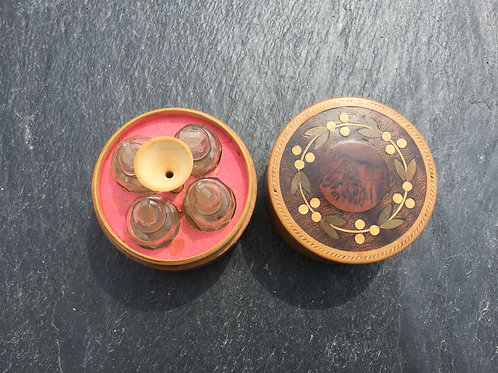 An Early Small Tunbridge Ware Perfume Box
