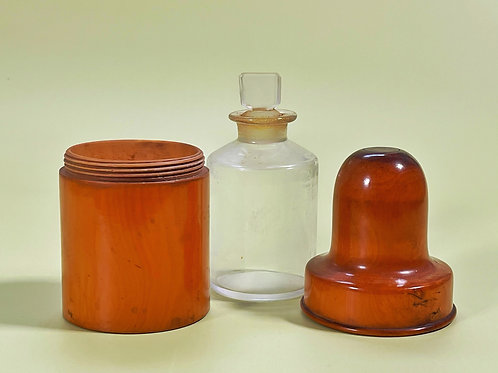 Antique Bottle Case & Bottle