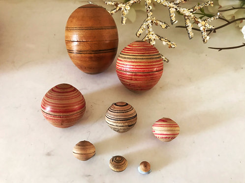 Antique Tunbridge Ware Nesting Eggs
