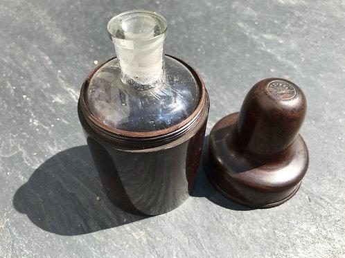 Antique Laburnum Bottle Case and Bottle