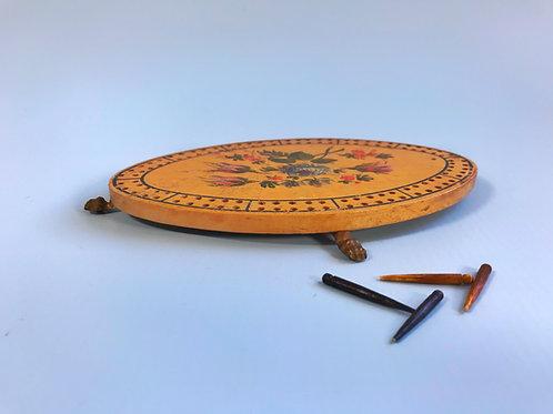Antique Georgian Oval Cribbage Board