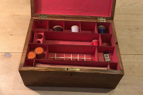 Antique Tunbridge Ware Sewing & Writing Box
