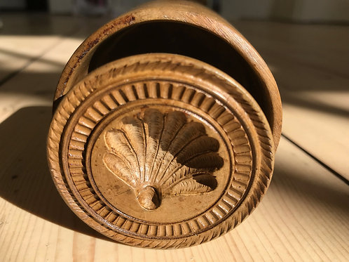 Antique Butter Stamp - Shell decoration