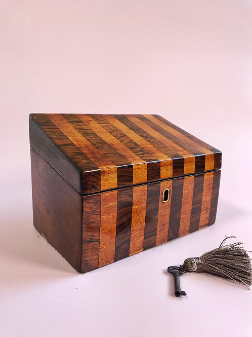 A Georgian Rosewood & Satinwood Box