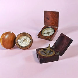 antique sun dials & compasses.JPG