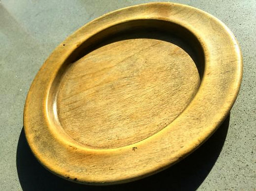 An Antique Treen Plate from the LEVI COLLECTION