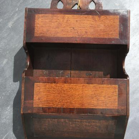 A Double Wall Hanging Antique Candle/cutlery Box