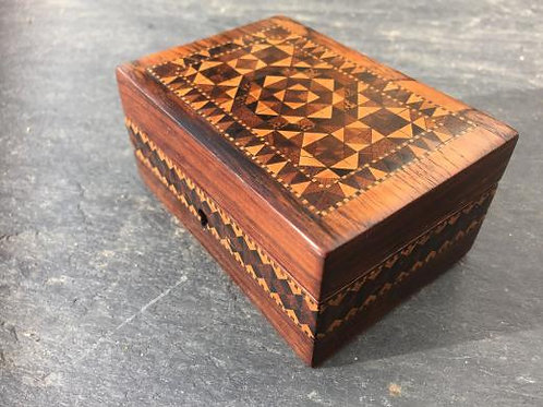 A 19th century rosewood veneered Tunbridge