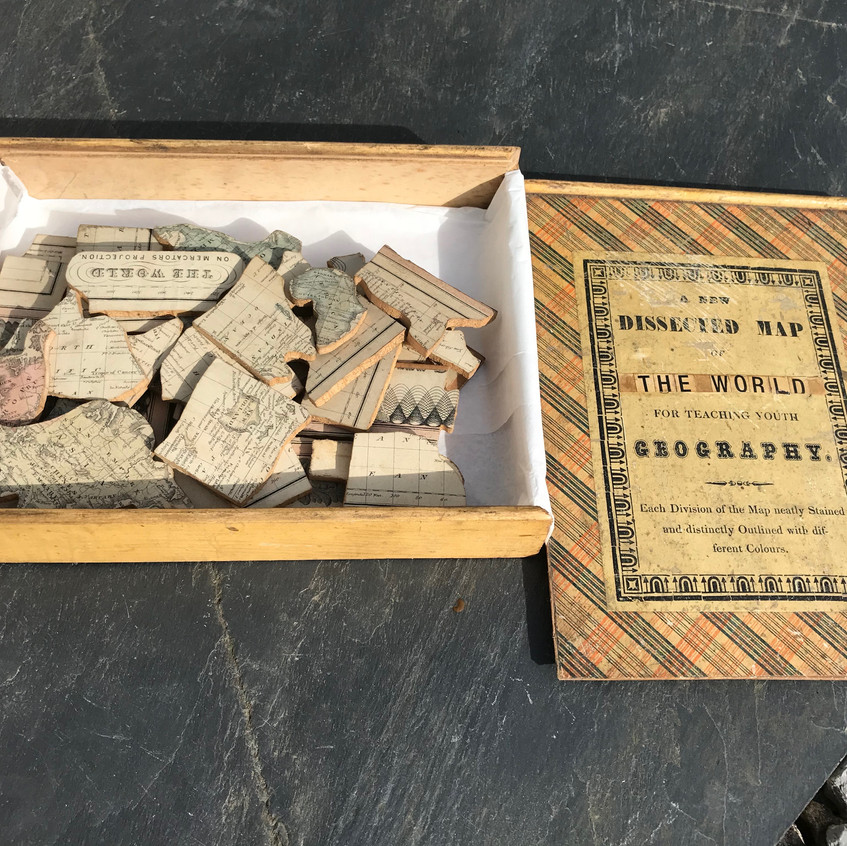 Antique treen jigsaw puzzle for sale opus antiques uk