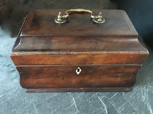 Antique Georgian Bombe Tea Caddy
