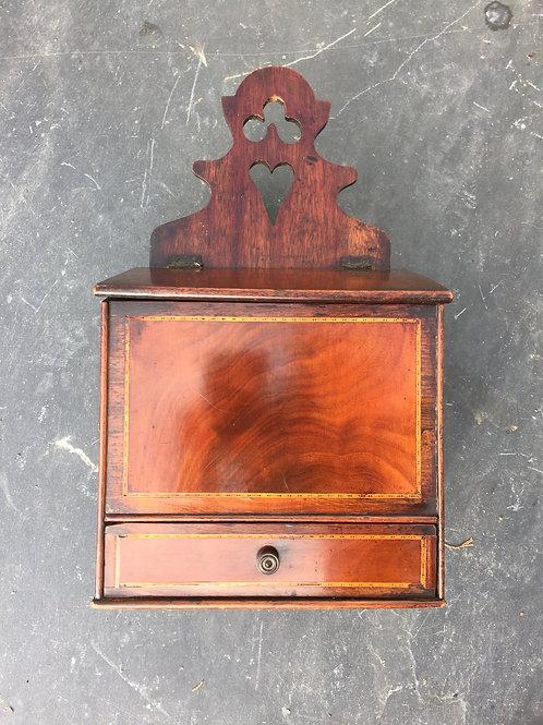 Antique Mahogany Candle/Wall Hanging Box