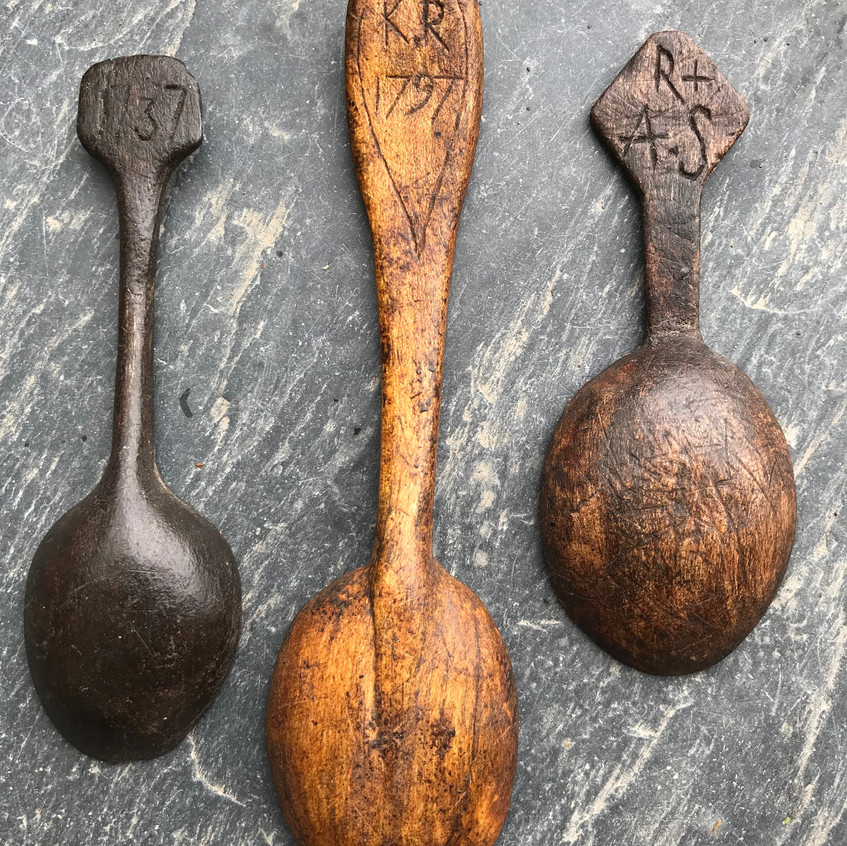 Antique treen spoons for sale, Opus antiques UK6