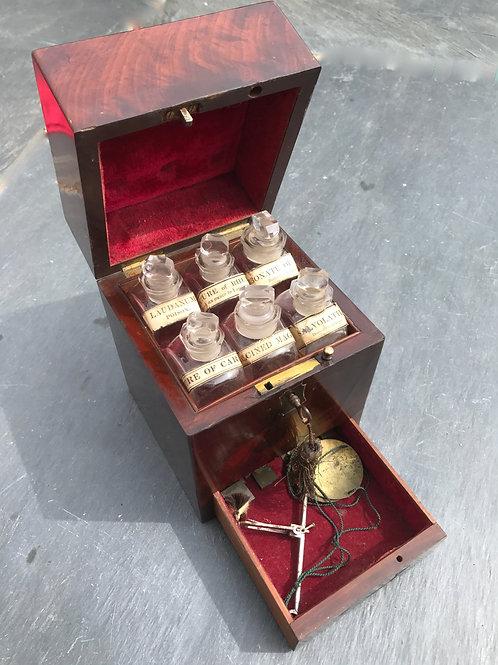 A Small Georgian Apothecary Box - original bottles