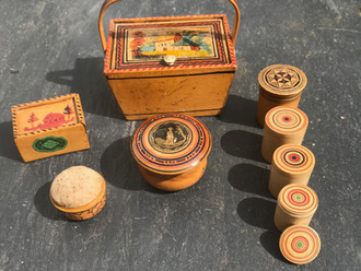 Antique Painted Tunbridge Ware