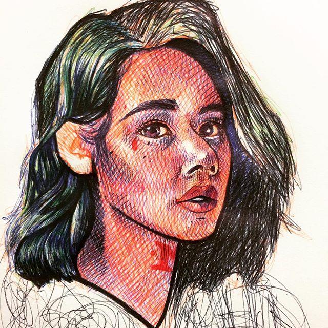 #portrait #ballpointpen #ballpoint #ink