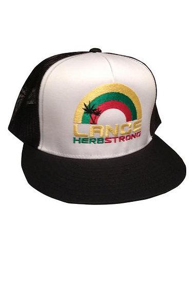 Lance Herbstrong Black Trucker Hat