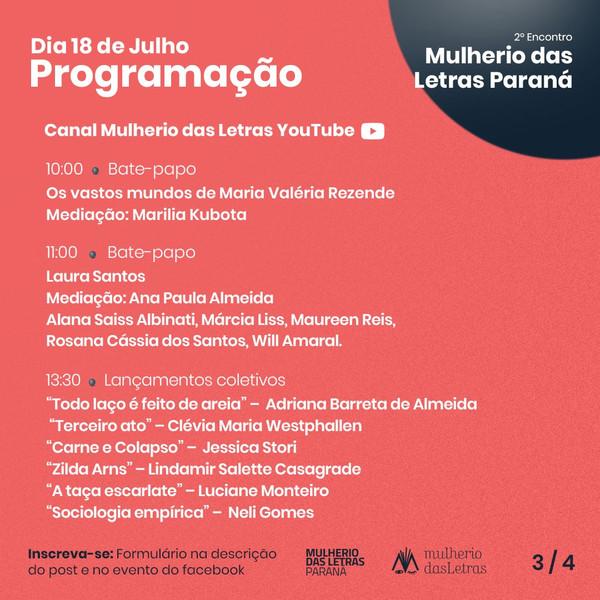 2º Encontro Mulherio das Letras Paraná