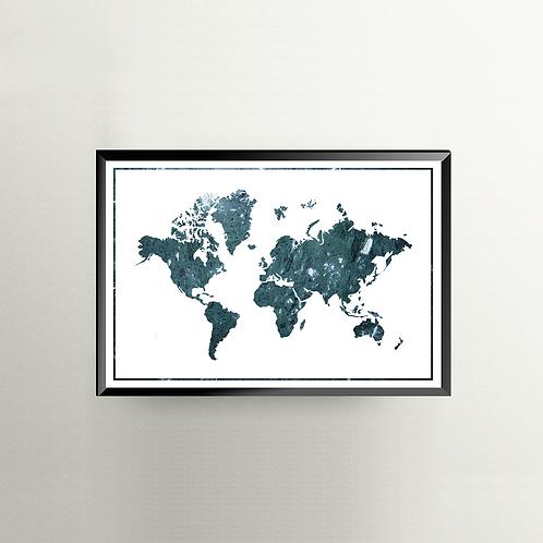 Verden i marmor - turkis