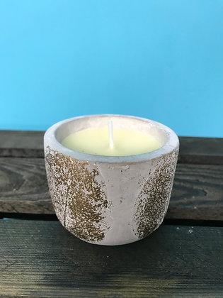 St Eval fig-scented gold leaf candle (large)