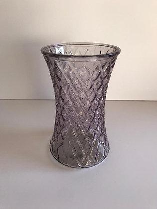 Pink/purple tinted glass vase