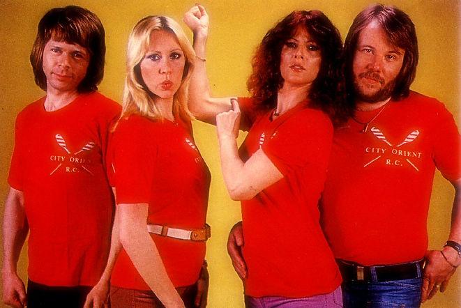 ABBA wearin City Orient R.C. t-shirts