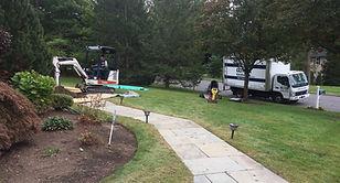 Man Digging Landscape Drain
