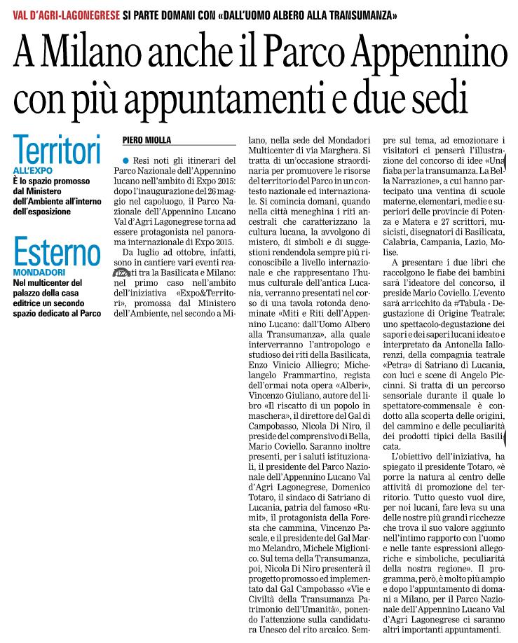 Gazzetta del Mezzogiorno 06/07/2015