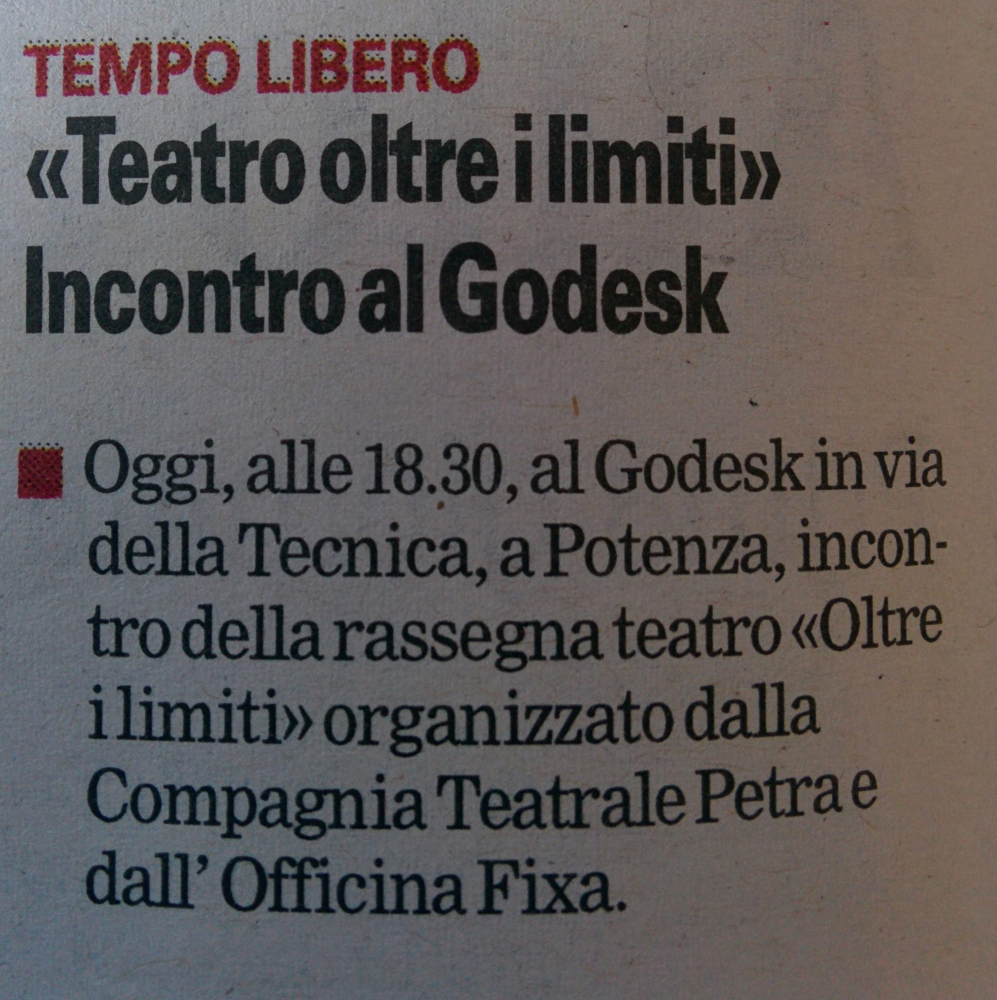 Gazzetta del Mezzogiorno 02/12/2016