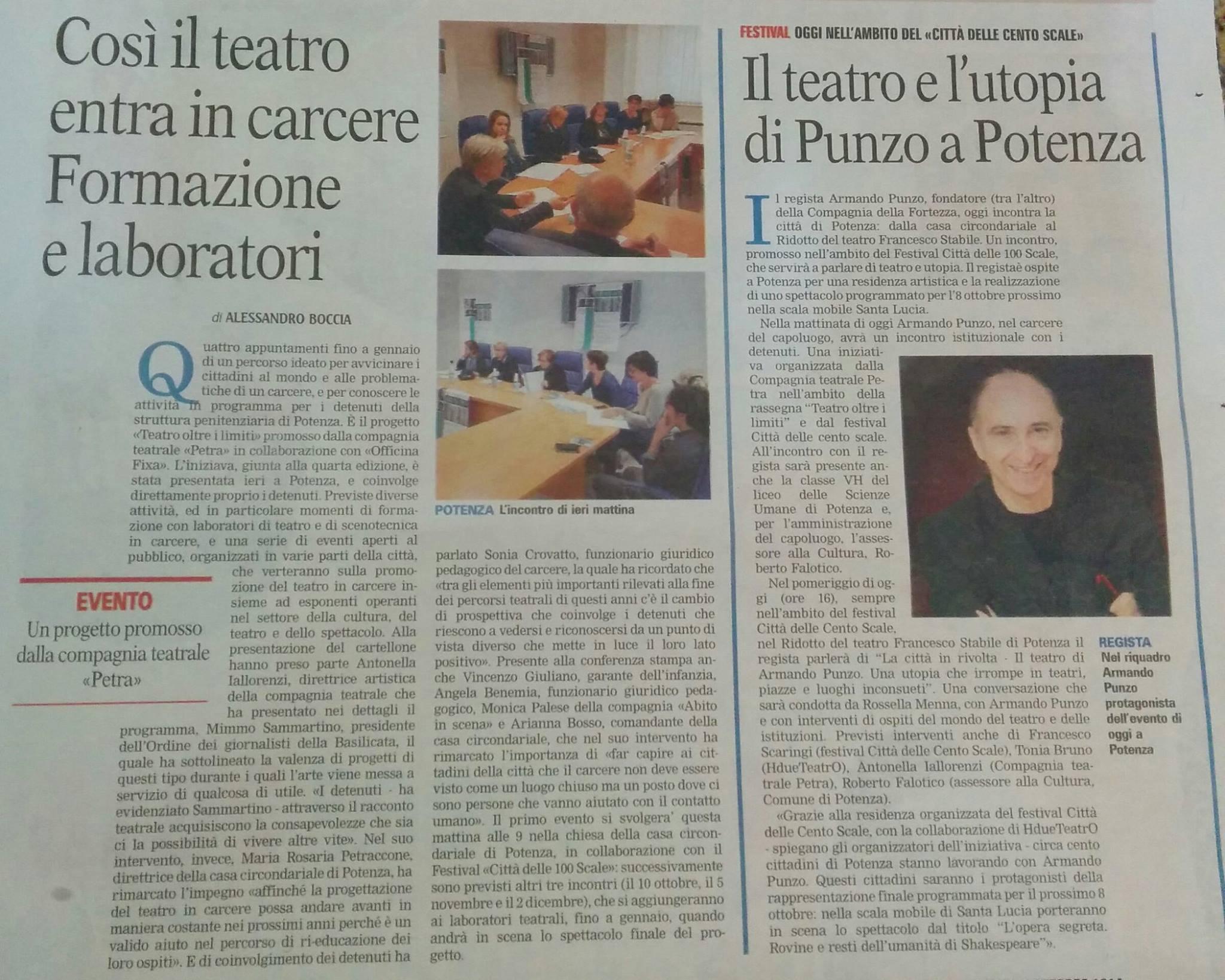 Gazzetta del Mezzogiorno 04/10/2016