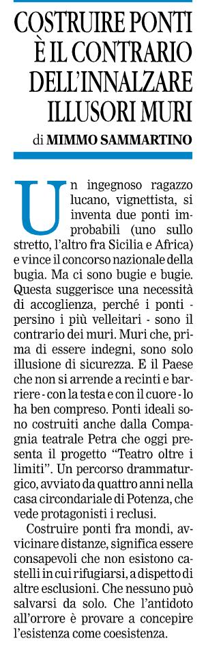 Gazzetta del Mezzogiorno 03/10/2016
